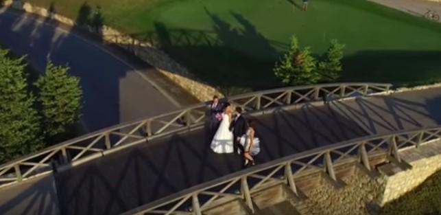 Страхотна бъларска сватба, заснета така, както само птиците могат да я видят! Насладете се на тази красота! (ВИДЕО)