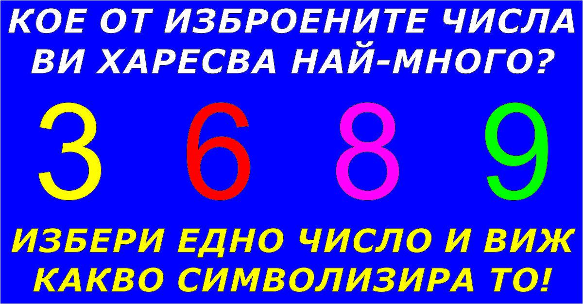 Изберете едно число и вижте символиката му!