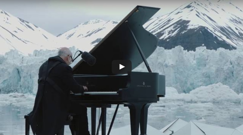 AMAZING! An inspiring message from the composer, Ludovico Einaudi, who played piano among nothing and everything – literally!!!