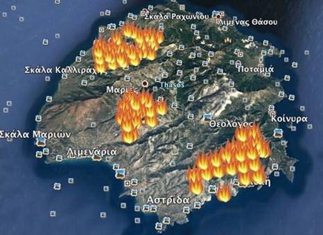 Нов кошмар в Гърция след потопа: Любимо на българите място е в пламъци, вижте докъде стигна огнената стихия (ВИДЕО)
