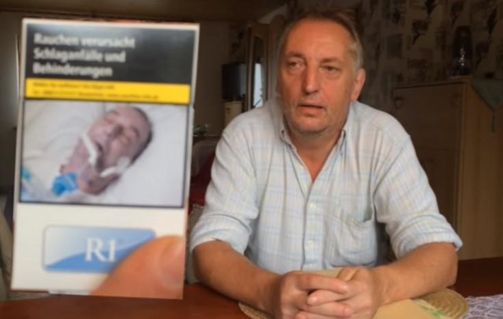 Мъж се разпозна на зловеща снимка върху цигари. Ето как ще си отмъсти (ВИДЕО)
