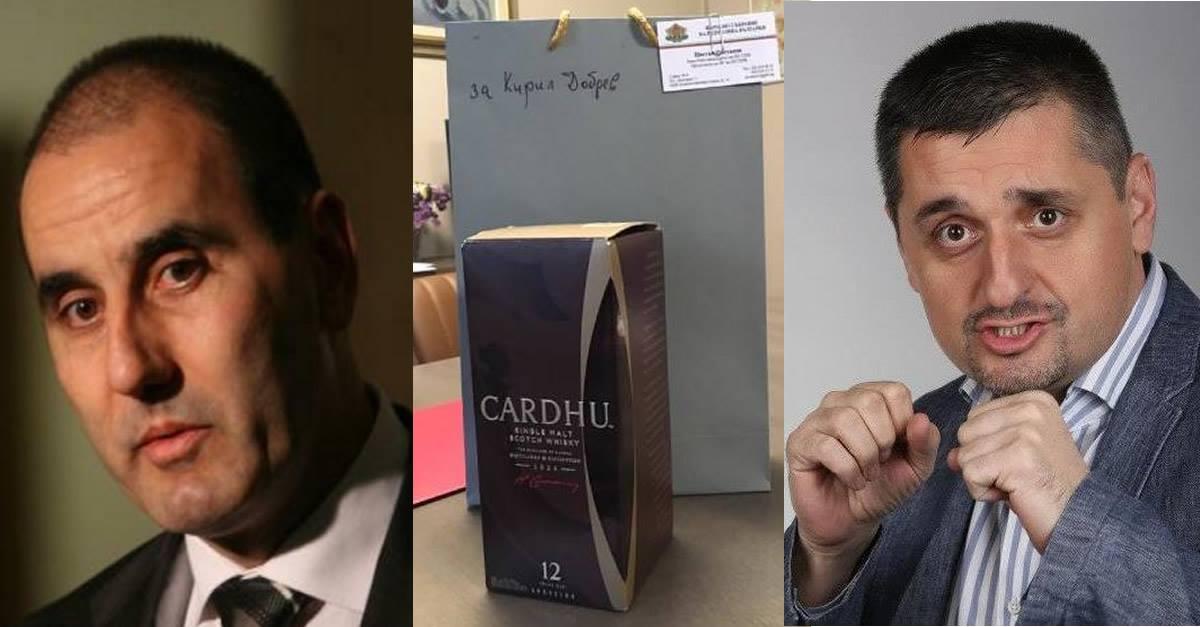 Цветан Цветанов се предаде! Изпрати скъпо уиски на душманина си от БСП. Вижте защо