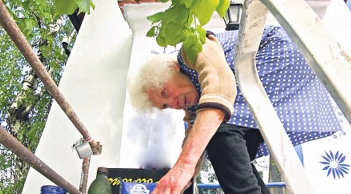 Човешкият дух няма граници! Всеки ден тя изкачва тази стълба! Вижте какво наистина прави 89-годишната старица (СНИМКИ)