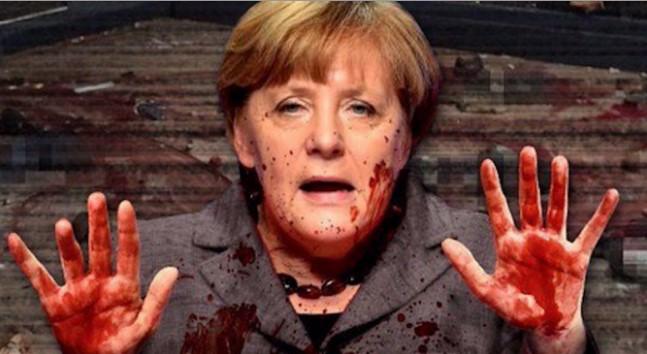 УНИЩОЖИХА АНГЕЛА МЕРКЕЛ! Вълна от гняв, скръб и сълзи помете канцлера на Германия (СНИМКИ 18+)