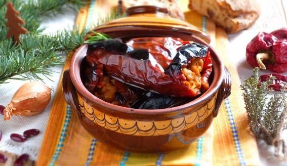 рецепта пълнени чушки с боб