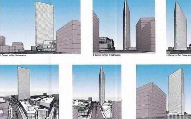 """В София вдигат 215-метров небостъргач. 55-етажното чудо ще се извиси до """"Парадайз мол"""""""