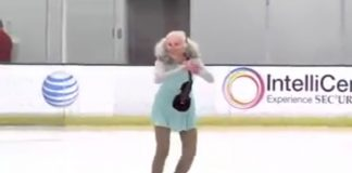 баба върху леда