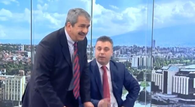 """Чудовищен скандал в ефира. Евгений Михайлов се обиди на """"еничар"""", едва не се сби (СНИМКИ)"""
