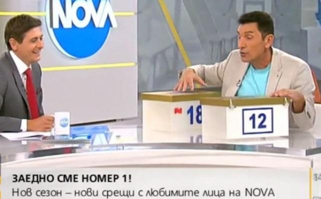 Фурор в ефир! Румен Луканов нахлу като торнадо в студиото на Нова, даде на Виктор Николаев 12 бона в кутии