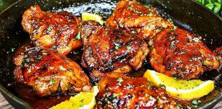 пиле с мед