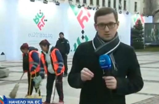 Срамота в ефир: Водещият Виктор Николаев се изгаври пошло с чистачките пред Народния театър (СНИМКА)
