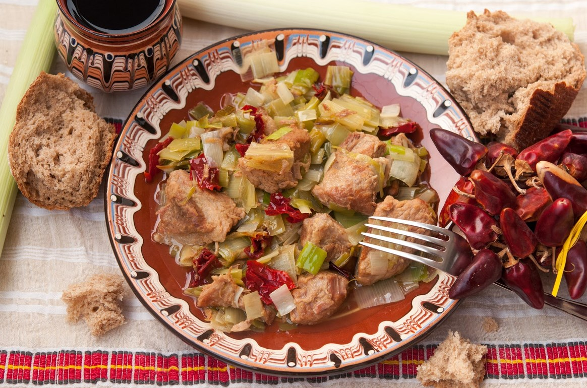Кебап от свинско месо с праз