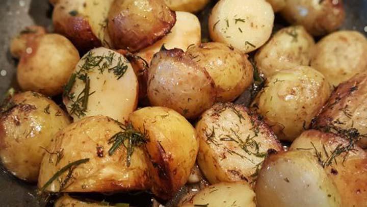 картофки с копър и чесън
