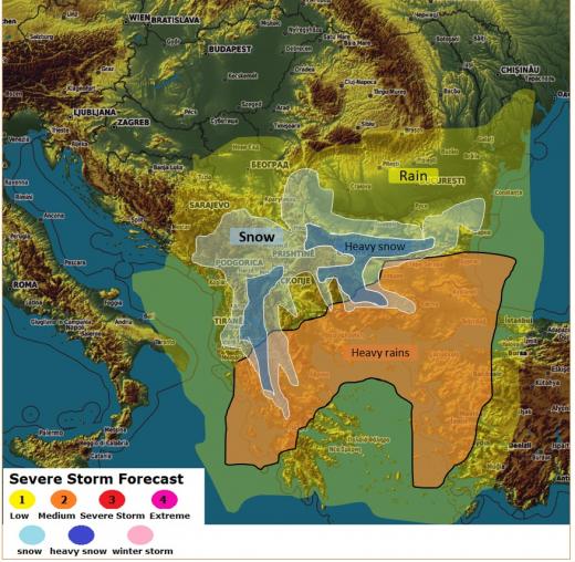 Внимание! Марокански циклон носи сняг до 40 см, а във вторник ни чака нова аномалия с времето (КАРТА)