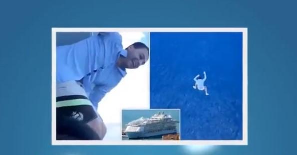 Пиян българин скочи от круизен кораб с височина на 11-етажна сграда (ВИДЕО)