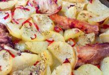 картофки с патешки бульон