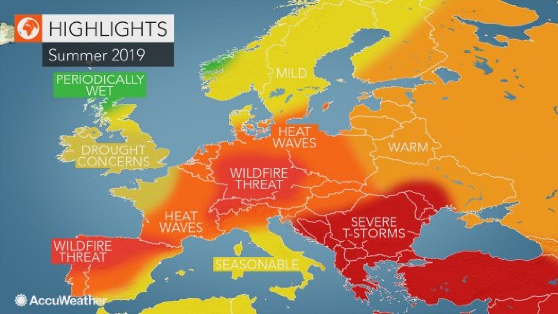 Гореща прогноза за лято 2019