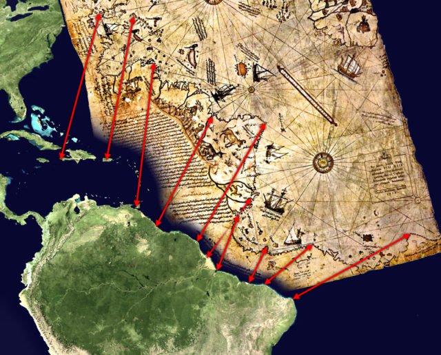 Зашеметяващата карта на Пири Рейс от 1513 г. - показва Антарктика векове преди откриването!
