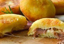 картофени бомбички с кашкавал и шунка