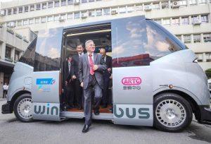 Тайван представи собствен автономен електрически минибус (ВИДЕО)