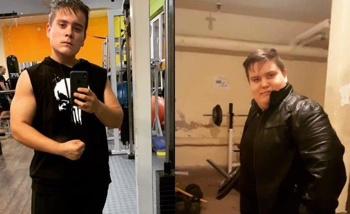 17-годишният Александър сподели как е свалил 70 килограма за 1 година (Снимка)