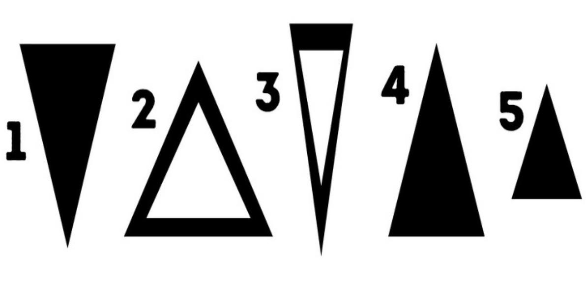 Избери триъгълник и разбери важна истина за себе си (Снимка)