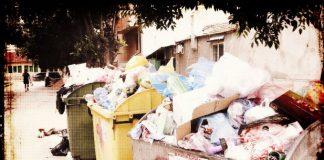 Провокация с боклука в София