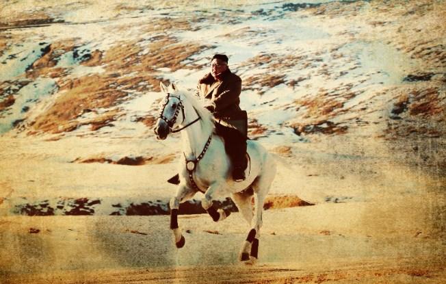 бял кон Ким Чен-ун