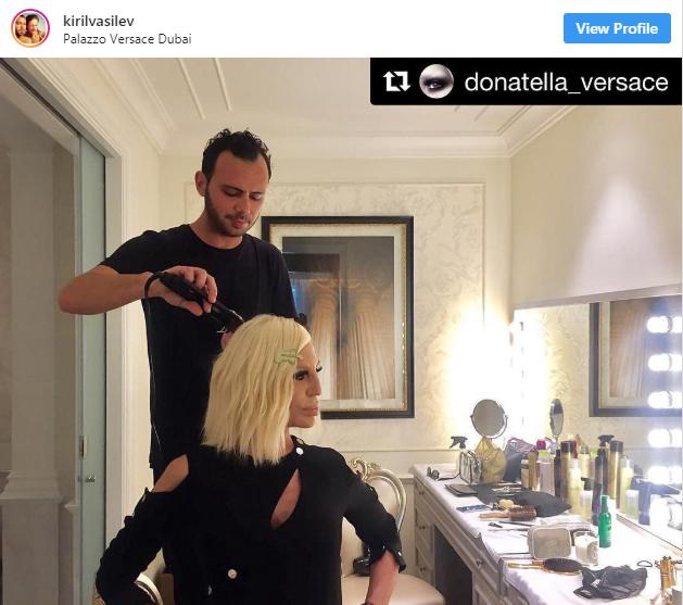 Българин е личен коафьор на Донатела Версаче (Снимки)