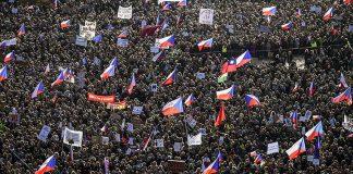 чехия протести