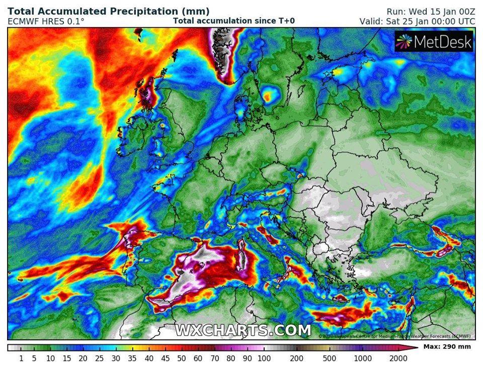 Meteo Balkans за времето до края на януари: Лошо, много лошо (КАРТИ)