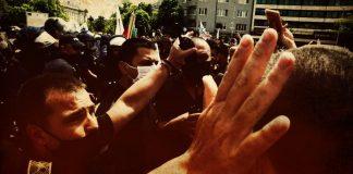 задържани на протеста
