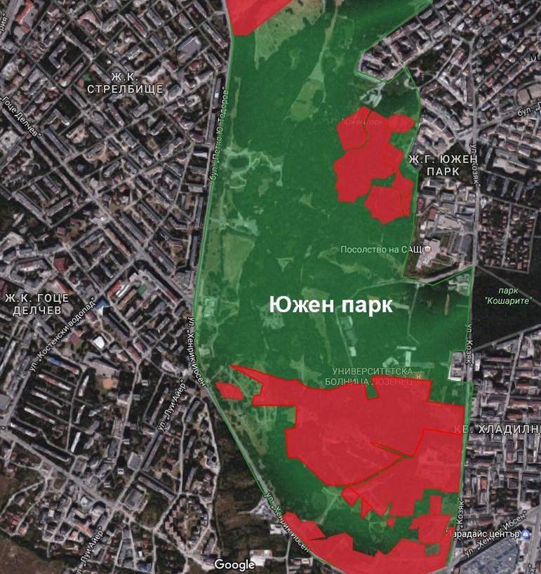 Бетонът настъпва и към парковете и градинките на София