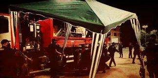 видеокадри и снимки от премахването на палатковия лагер