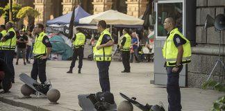 Полицаи протест