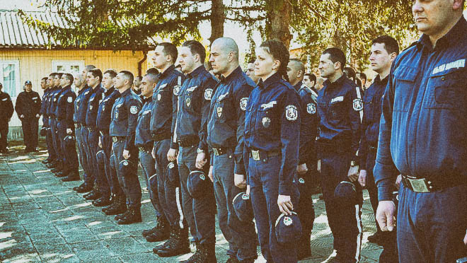 полицаите на протест