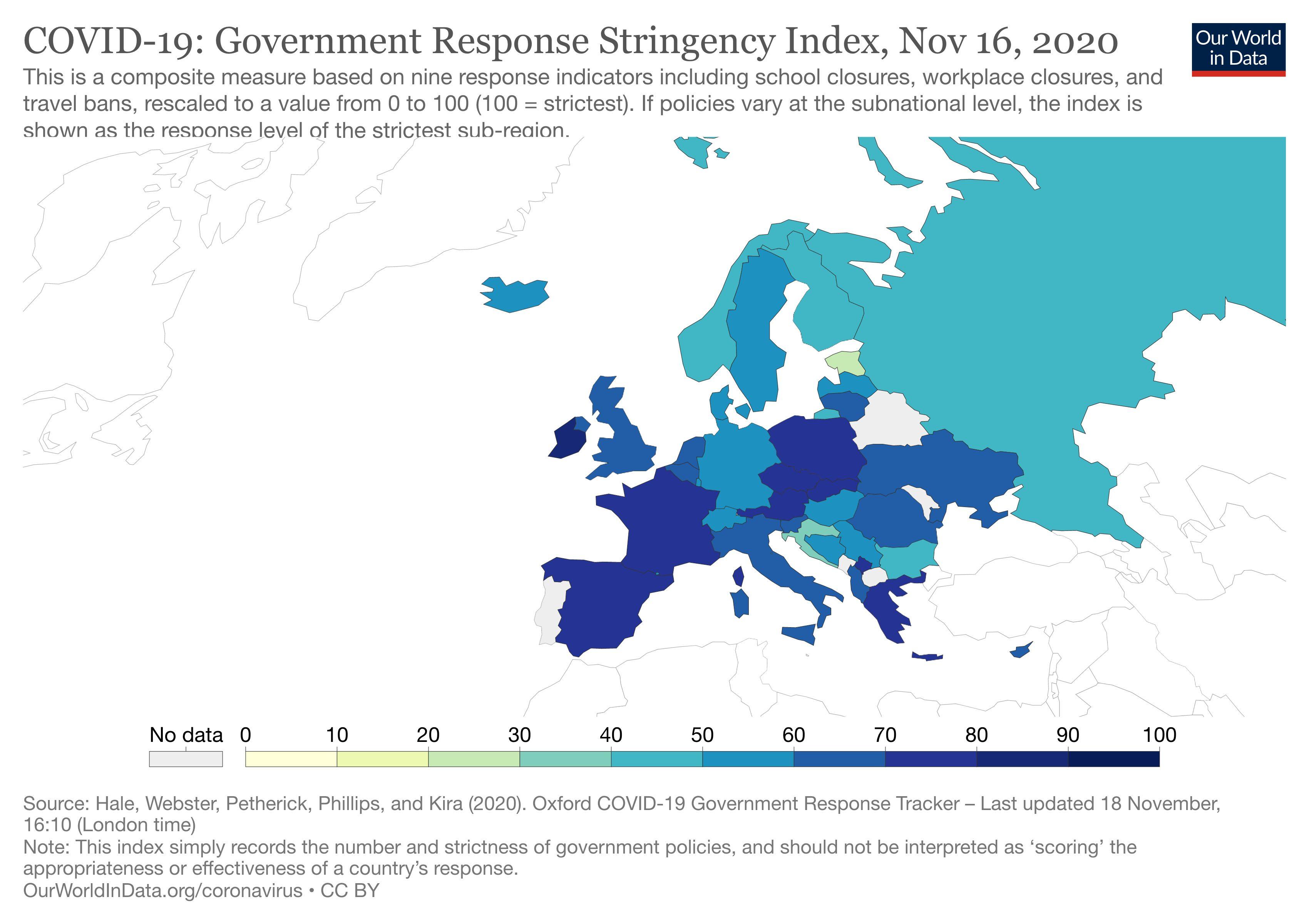 България е сред страните с най-слаби мерки срещу COVID-19 (Графика)