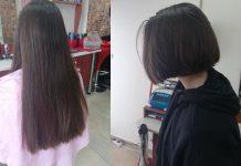 Ученичка отряза косата си
