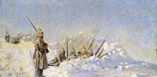 руската войска зимата