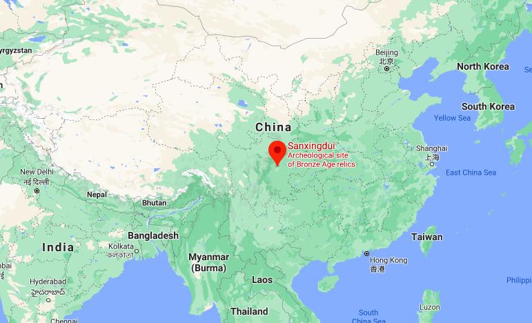 Археолози откриват златна маска на 3000 години в югозападен Китай