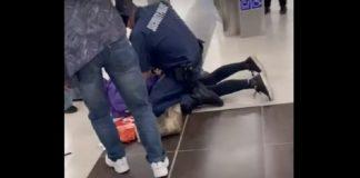 пияна баба в метрото