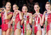 Ансамбълът на България спечели златния медал в многобоя на Световната купа по художествена гимнастика в Баку (Азербайджан)