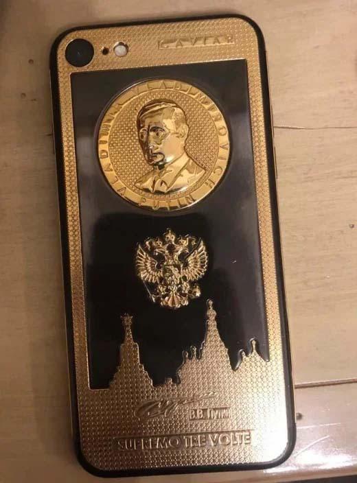 Брендо ползвал телефон от злато с облика на Путин (Снимка)
