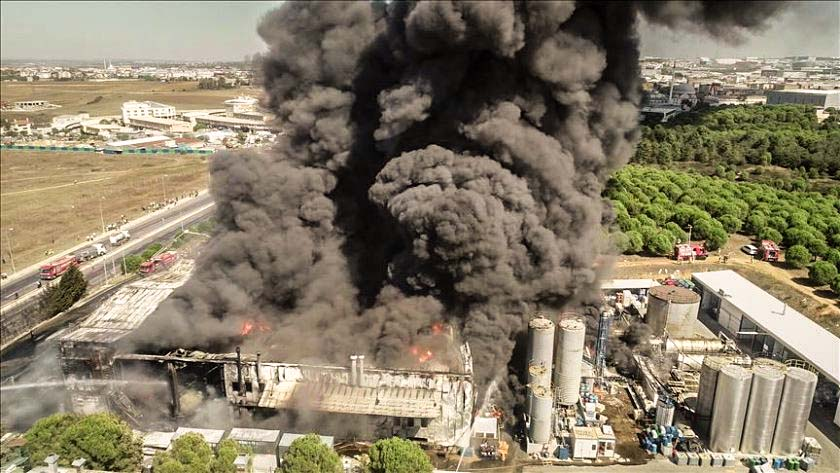 Пожар завод