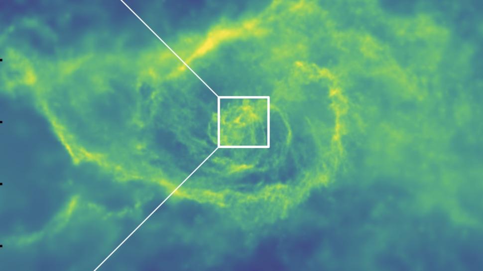 черна дупка симулация